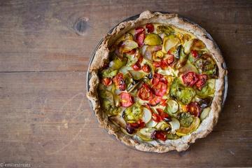 Rezept Unvergessliche Tomatentarte mit Mandeln und Birnen