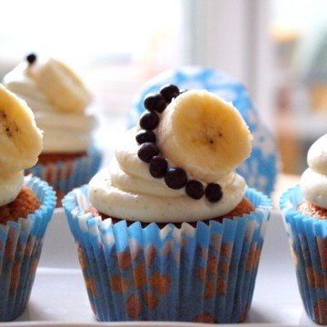 Rezept Vanille-Bananen-Cupcakes