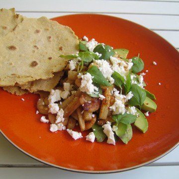 Rezept Vanille-Spargel mit Garnelen, Avocado und Feta