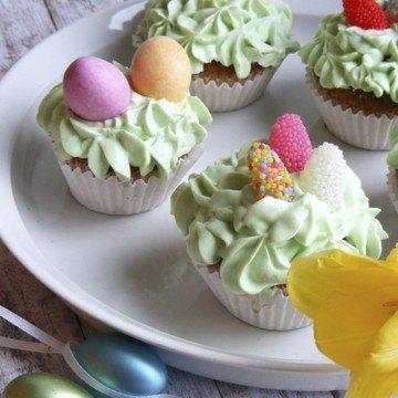 Rezept Vanillecpcakes mit Waldmeistertopping
