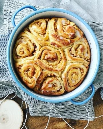 Rezept Vanilleschnecken mit Apfel Zimt Füllung