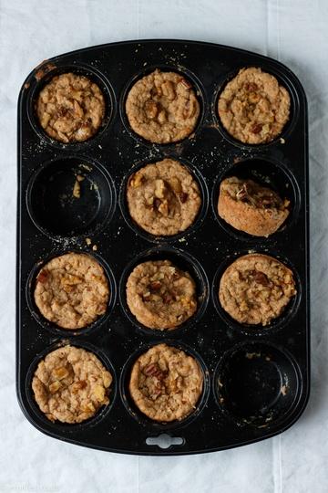 Rezept Vegane Apfelmus-Muffins - kinderleicht und haben immer Saison!