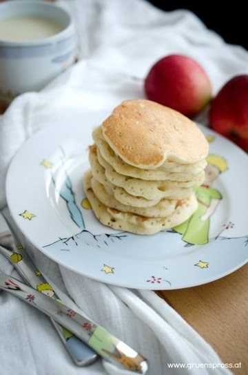Rezept Vegane Apfelpancakes