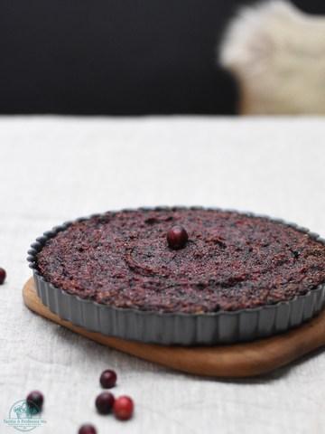 Rezept Vegane Cranberry-Tarte mit Pekanüssen & Ingwer