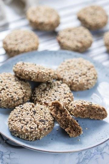Rezept Vegane Dattel Tahini Kekse