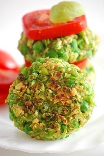 Rezept Vegane Erbsen-Haferflocken-Patties