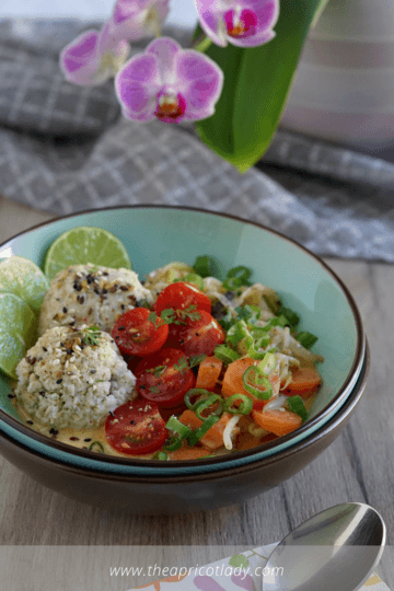 Rezept vegane Hafer-Curry Bowl