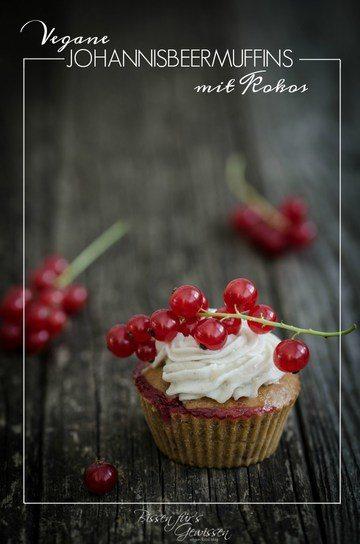 Rezept Vegane Johannisbeer Muffins mit Kokos