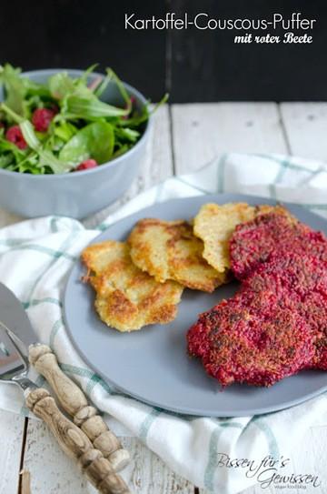 Rezept Vegane Kartoffel Couscous-Puffer