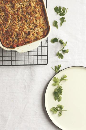 Rezept Vegane Lasagne mit Thai-Gemüse und Cashew-Knusper
