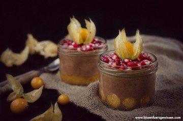 Rezept Vegane Mandelcreme mit exotischen Früchten