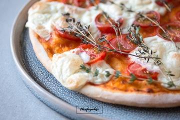 Rezept Vegane Pizza mit Mozzarella