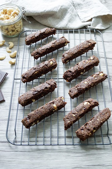 Rezept Vegane Schoko-Biscotti mit Cashewnüssen