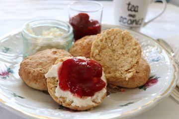 Rezept Vegane Scones und Clotted Cream
