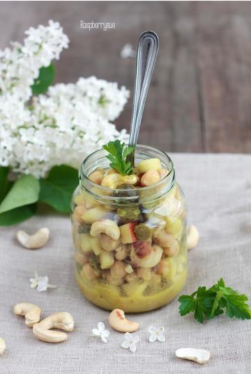 Rezept Veganer Kichererbsen-Curry-Salat