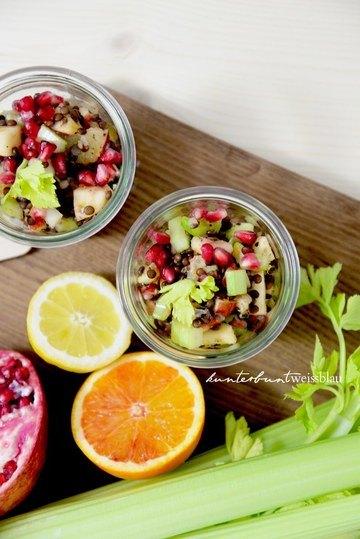 Rezept Veganer Linsensalat