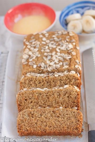 Rezept Veganes Bananenbrot | Ohne Zucker & Gluten-frei