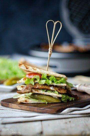 Rezept Veganes Clubsandwich aus dem Waffeleisen