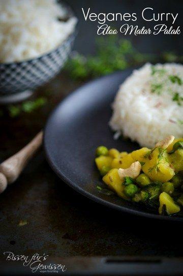 Rezept Veganes Curry Aloo Matar Palak