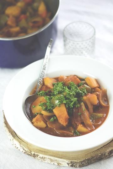 Rezept Veganes Pastinaken-Gulasch
