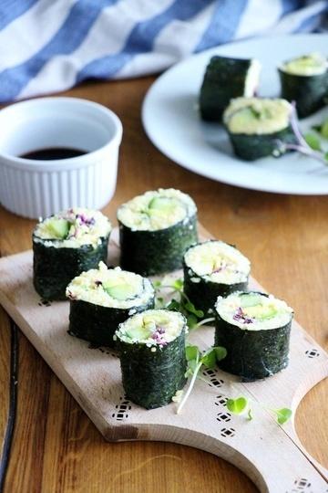 Rezept Veganes Sushi mit Hirsefüllung