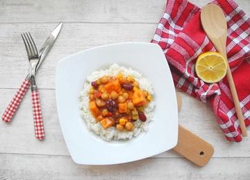 Rezept Veganes Süßkartoffel Chili sin Carne