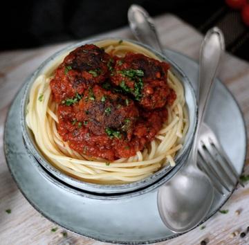 Rezept Vegetarische Fleischbällchen in Marinarasauce
