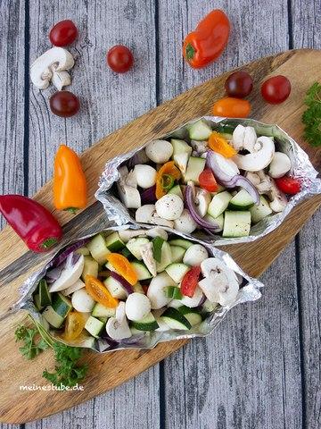 Rezept Vegetarische Gemüse-Schiffchen für den Grill