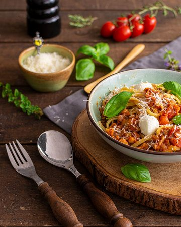Rezept Vegetarische Linsenbolognese
