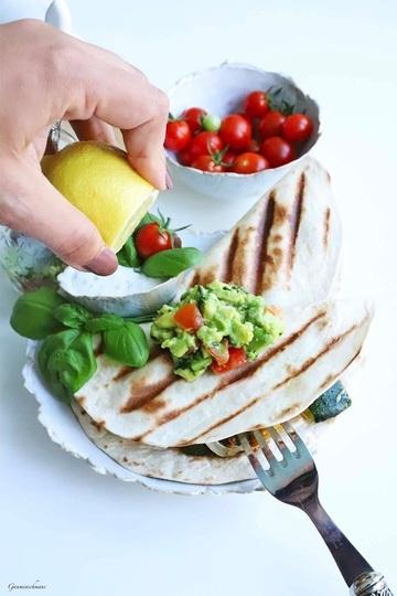 Rezept Vegetarische Quesadillas vom Grill