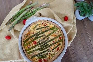 Rezept Vegetarische Quiche mit grünem Spargel