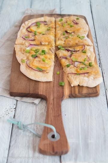 Rezept Vegetarische Sauerkrautpizza mit Bierteig