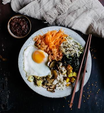 Rezept Vegetarischer Bibimbap