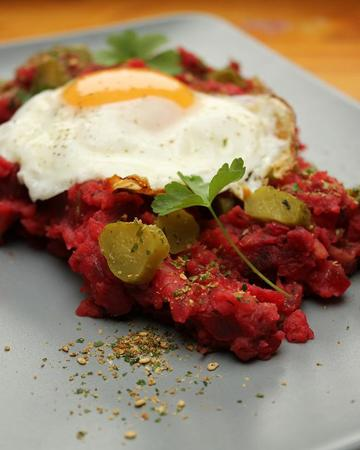 Rezept Vegetarischer Labskaus mit Sesam-Nori-Topping