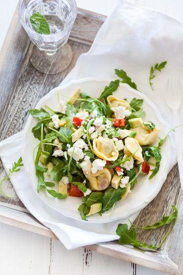 Rezept Vegetarischer Tortellini Rucola Salat