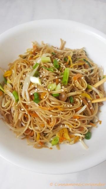 Rezept Vegetarisches Chow Mein