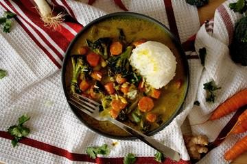 Rezept Vegetarisches Curry mit Reis