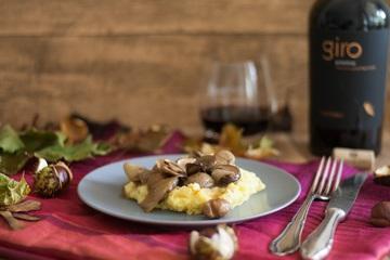 Rezept Vegetarisches Kastanienragout mit Taleggio Polenta