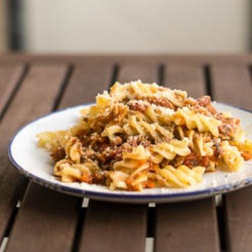 Rezept Veggie-Bolognese mit Pilzhack