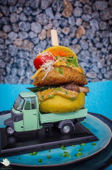 Rezept Veggie-Burger mit schnellem Bohnen-Patty