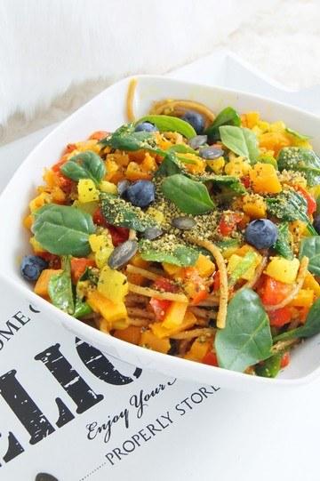 Rezept Veggie Gemüse Pasta Bowl