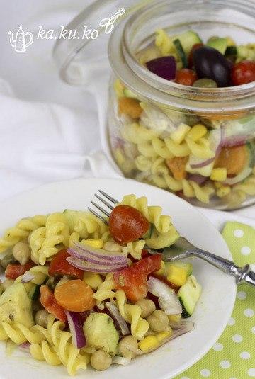 Rezept Veggie-Nudelsalat mit allem