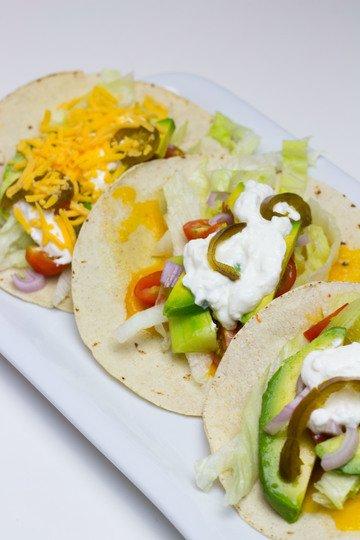 Rezept Veggie Tacos mit crispy Cheese