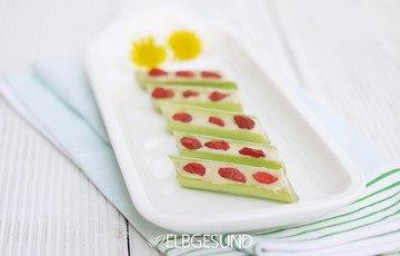 Rezept Verrückter gesunder Snack mit gefülltem Sellerie