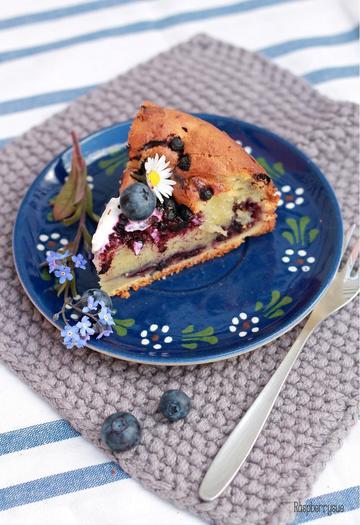 Rezept Versunkener Heidelbeer-Schmand-Kuchen