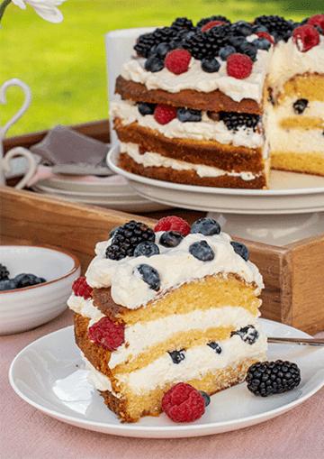 Rezept Victoria Sponge Cake mit Beeren
