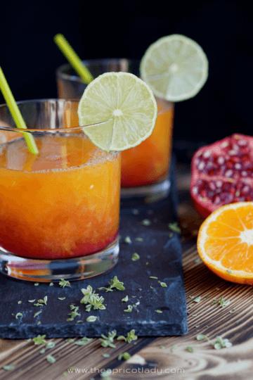 Rezept Vitaminkick mit Satusma & Granatapfel (zu Halloween)