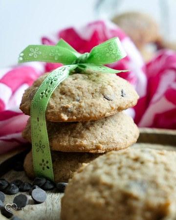 Rezept Vollkorn Cookies mit Schokolade