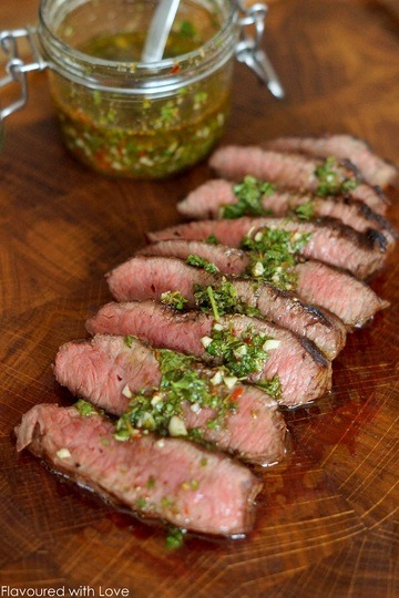 Rezept Wagyu Flat Iron Steak mit Chimichurri