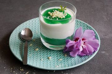 Rezept Waldmeister Dessert mit Waldmeister Sirup